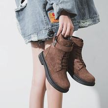 Winter Shoes Short Short Boots Flat Bottom Skin Boots Woman Boots(China)