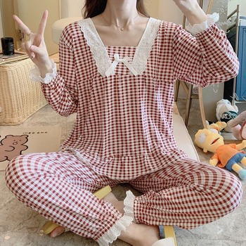 Pijama de Invierno QWEEK para Mujer, Pijama de Invierno para Mujer, ropa de hogar para Mujer, Pijama Damska 2020, camisón