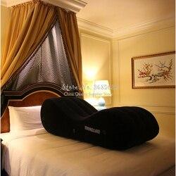 Letzte günstige Interessante Ecke Aufblasbare Bett S-form Stuhl Erwachsene Kissen Cube Schlafsofa Maschine für Paare Spiele withInflator