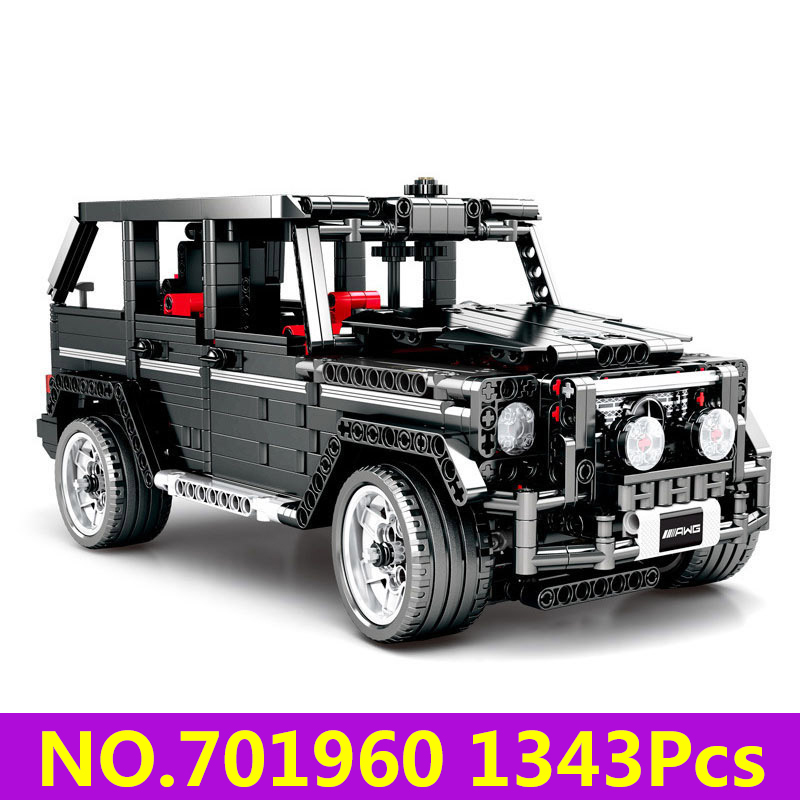 Lepinblocks <font><b>701960</b></font> G500 Off Road Vehicle Technic Car Model Building Blocks Set 1343Pcs Kids Toys For Children Gift King Bricks image