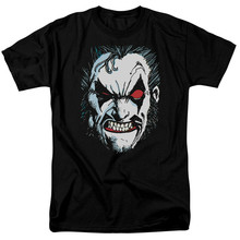 Camiseta de la Liga de la justicia americana, camisa de cara grande con licencia para adultos, diseño divertido