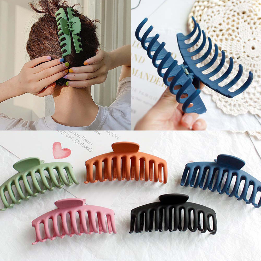 2020 New Claw Clip For Women Tough Black Plastic Hair Claw Large Size Hair Clamps Claw Clip Crab For Hair Accessories