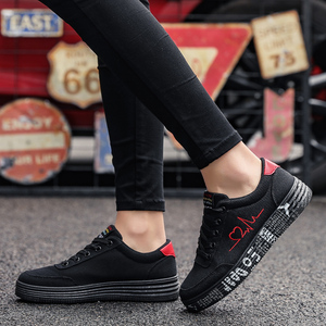 Image 1 - Women Vulcanized Shoes Spring Summer Casual Shoes Ladies Breathable Canvas Sneakers Female Graffiti Printed Flat Shoes Plus Size
