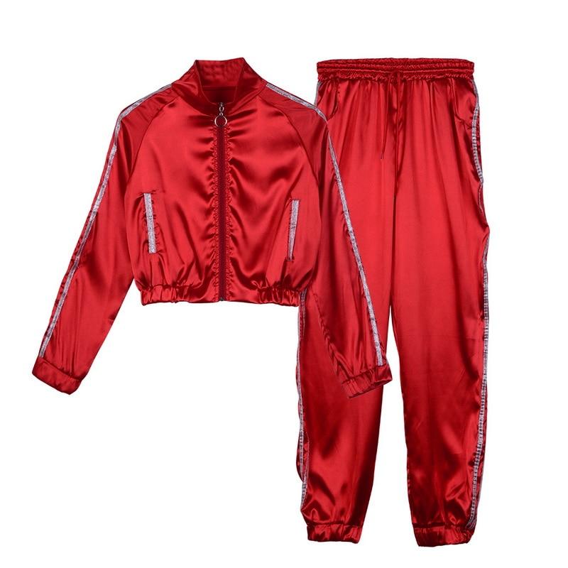 Women's Autumn Tracksuit 2 Piece Set Women Sports Sets Long Sleeve Sweatsuits Gym Fitness Casual Jogging Sweatpants Zipper Suits