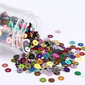 Оптовая продажа 500 г/упак. 2 мм 3 мм 4 мм 5 мм 6 мм плоские круглые блёстки шитье ремесло 28 цветов Женская одежда шитье круг ломтик