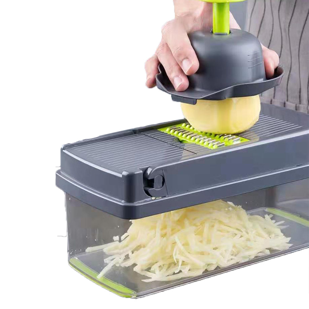 Kitchen Accessories Vegetable Chopper Slicer Grater Peeler Drain Basket  Convenient and fast  Cheese  Interchangeable Blades|Shredders & Slicers| |  -