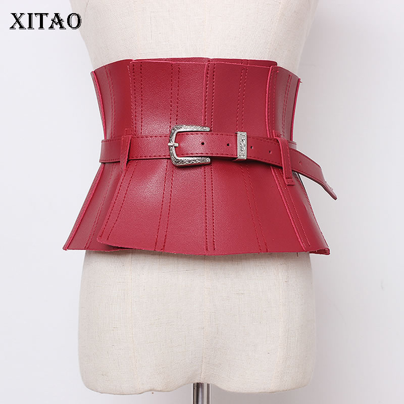 XITAO Personality Cummerbunds Wide Belt Slim Was Thin Girdle Match Dress Shirt Fashion Trend Streetwear Accessories GCC2790