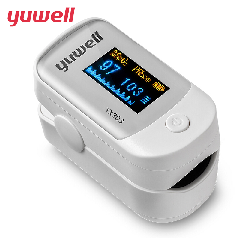 Original Yuwell Medical Fingertip Pulse Premium LED Display Direction 4 Portable Pulse Oximeter Blood Monitor Color Oxygen SPO2