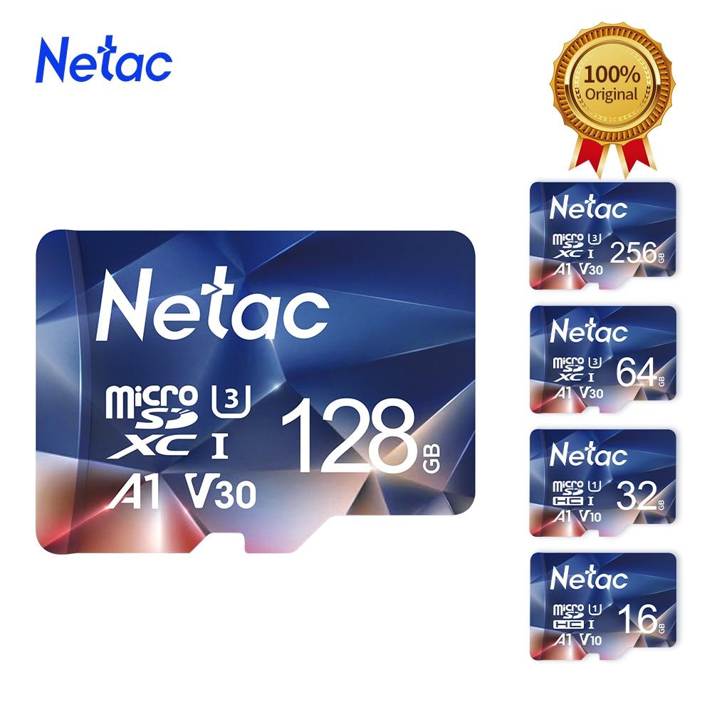 Tarjeta de memoria Original Netac P500 32GB 16GB 64GB 128GB 256GB 512GB Clase 10 tarjeta Micro SD 100 MB/S tarjeta TF Mini tarjeta SD para teléfono
