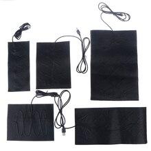 Pads Heating-Pad Carbon-Fiber Jacket Cloth Warm-Paste USB Safe for Vest Shoes Socks Portable