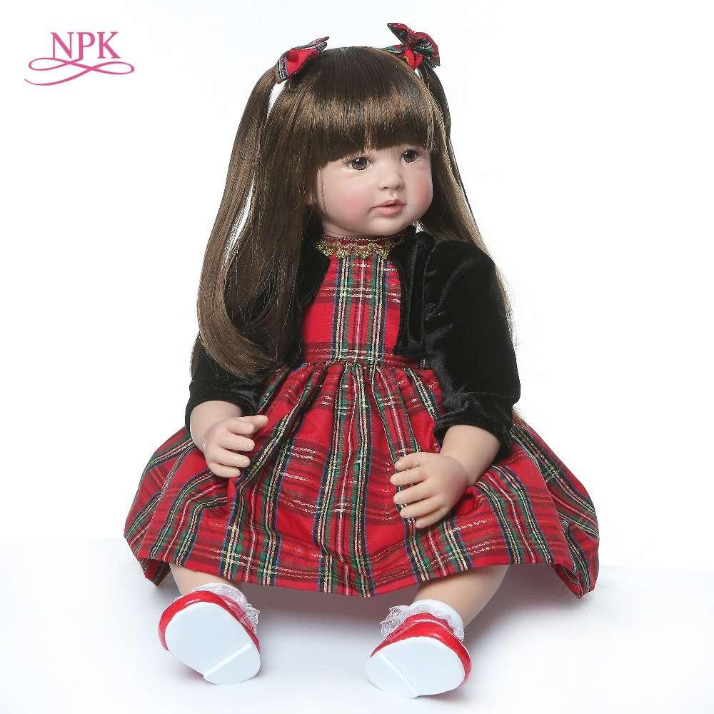 60cm très grand reborn enfant en bas âge princesse fait à la main en Silicone vinyle adorable réaliste bébé Bonecas fille enfant poupée reborn menina