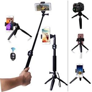 Image 2 - Stativ Bluetooth Fernbedienung Selbstauslöser Clip Halter Selfie Dslr Stativ Stick Mount Für Gopro Sport Kamera Telefon Stehen halter