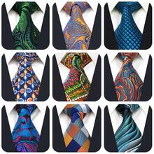 Paisley Geometric Mens Neckties Multicolor Classic For Suit Jacket Fashion Ties for Men Wedding
