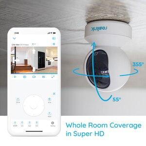 Image 4 - Reolink cámara de seguridad para el hogar 3MP, 2,4G Hz, wifi, Pan/Tilt, audio bidireccional, ranura para tarjeta SD, cámara ip interior, E1, dos paquetes