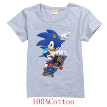2020 fashion sports Sonic The Summer T Shirt Boys Girls Cartoon Printed Short Tee T-shirt cotton Tshirt Kids Children Clothes