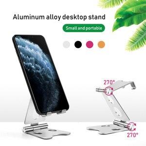 Image 2 - 調整可能なアルミ携帯電話用スタンドタブレット折りたたみポータブルデスクホルダースマートフォンiphoneサムスンipad (マルチカラー)