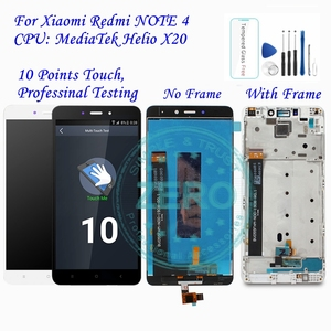 Image 1 - For Xiaomi Redmi Note 4 MediaTek LCD Display Frame Complete Touch Screen Panel Redmi Note4 Note 4 MTK LCD Digitizer Spare Parts