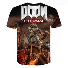 3D Doom Eternal Printed T-shirt Men Women Children New Summer Casual Streetwear Boy Girl Kids T Shirts Fashion Cool Tee Tops