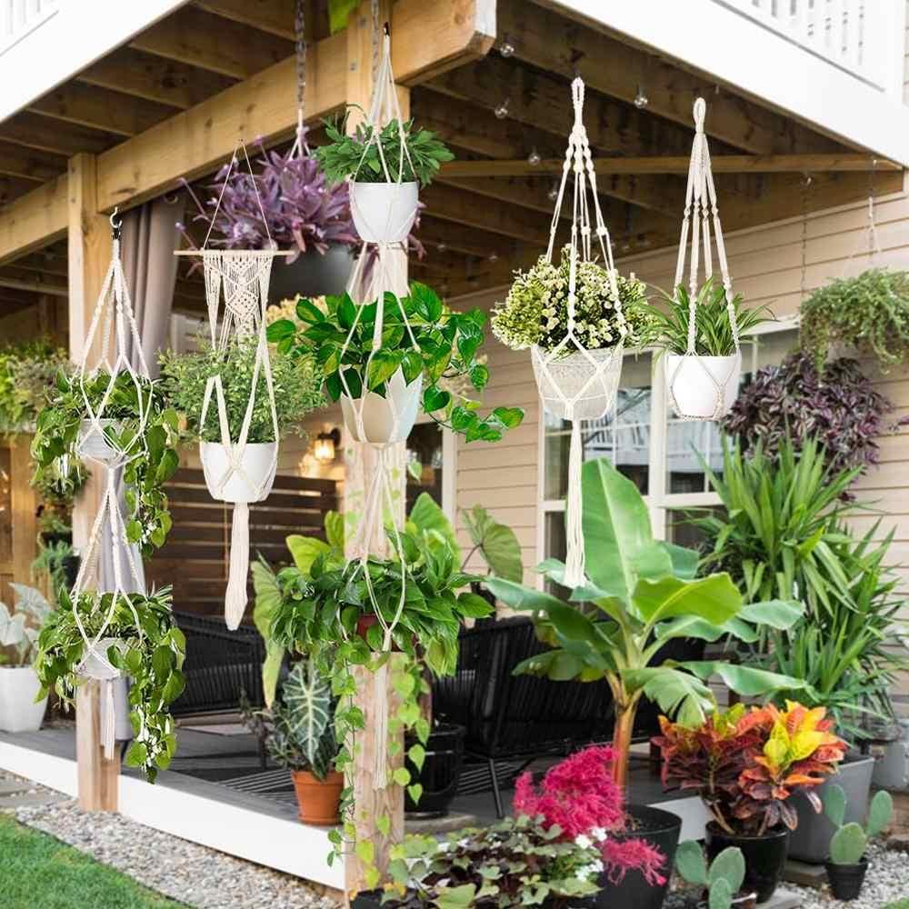 Hanging Baskets Handmade Macrame Plant Hanger Flower Pot Hanger for Wall  Decoration Hanging Planter Basket Garden Decoration| | - AliExpress