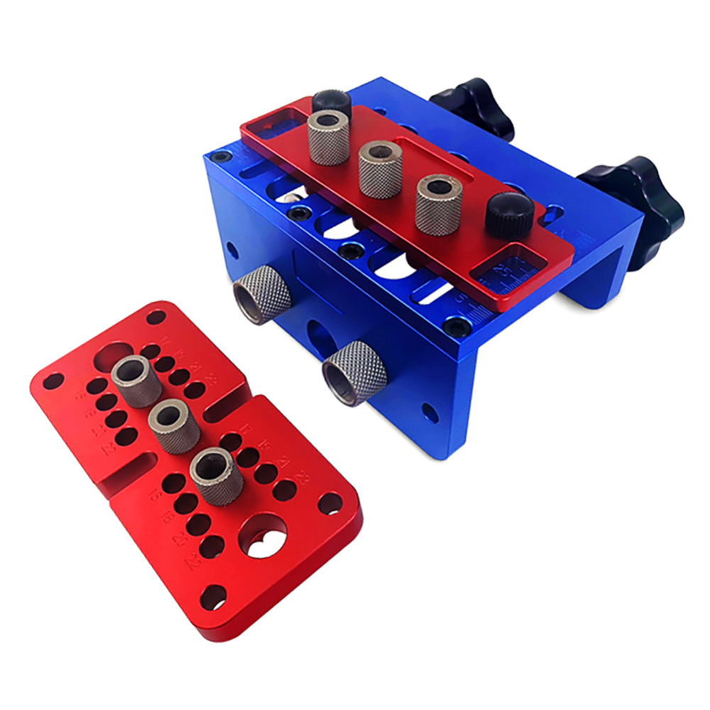 3 In 1 Aluminium Alloy Punch Locator Woodworking Tool Drilling Tools Wood Working Precise Self Centering Dowelling Jig