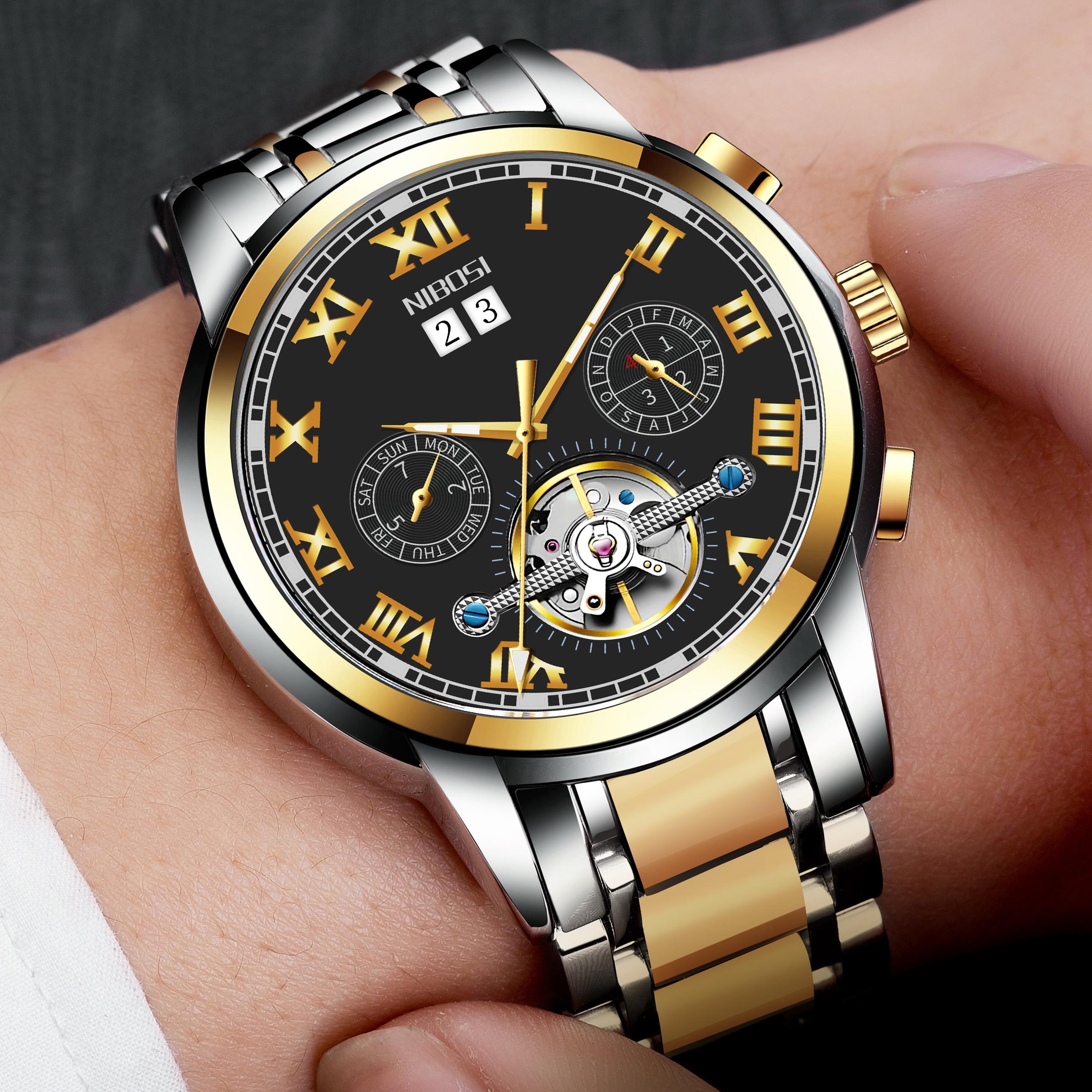 NIBOSI Mechanic Watch Top Brand Luxury Mens Watches Automatic Luxury Watch Men Sport Wristwatch mens reloj hombre Tourbillon 2