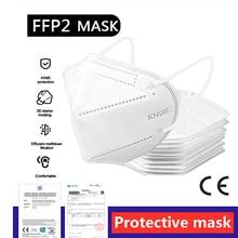 Ffp2 ffp3 máscaras kn95 respirável preto n95 máscara de segurança não tecida proteção ffp2 máscara ce mascarillas kn95 certificadas para adulto