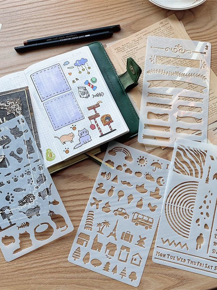 Bullet-Stencils Template Stationery Journal Scrapbooking Diary Painting Diy Plastic Reusable