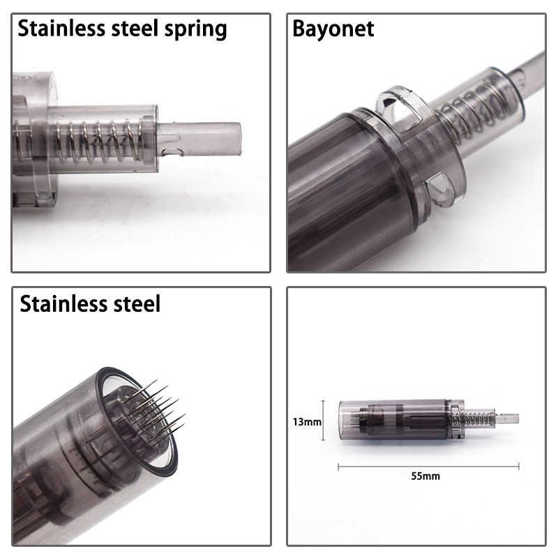 Baioneta 10 pcs Elétrica Dr. caneta Cartuchos de Agulhas A7 9/12/24/36/42/nano pin Tatuagem Dicas Repacement Para auto Terapia de micro-agulha
