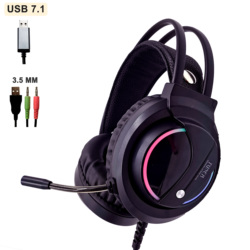 Music Gaming Headset Surround Sound with Mic Earphones USB 7.1 &3.5mm Wired RGB Back Light Game Headphones High Sound Quanlity