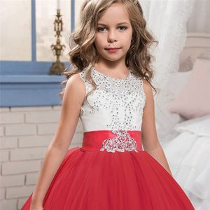 Image 3 - Robe de spectacle de demoiselle dhonneur, tenue de fête de mariage, pour enfants, adolescentes 10 12 14 ans