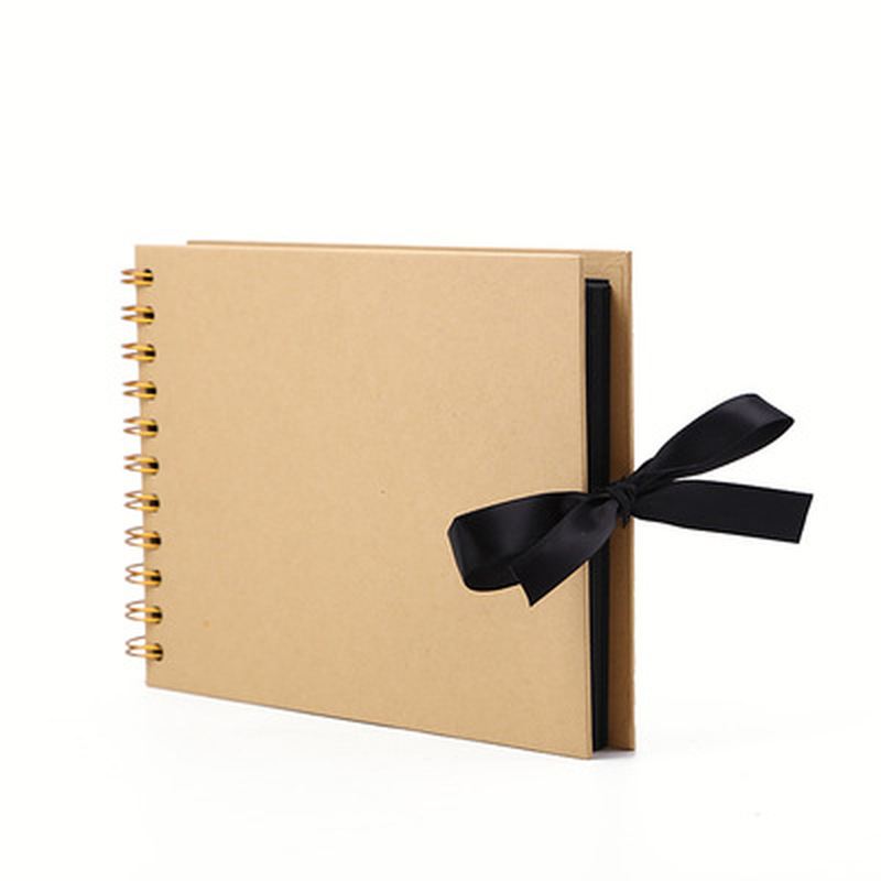 New Product Fashion 30-page DIY Photo Album Vintage Kraft Paper Scrap Family Memorial Album Children Environmental Album image