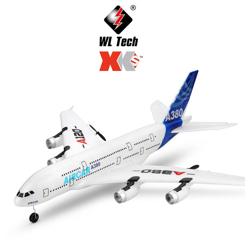 XK Weili A120 Airbus A380 Three-Channel Push-Back Dual Power Glider Remote Control Model Plane