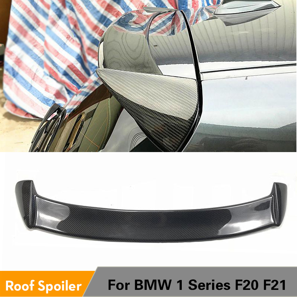 De fibra de carbono trasero alerón de techo de labio alerón de ala para BMW serie 1 F20 F21 2012 - 2018 ventana Spoiler tapa
