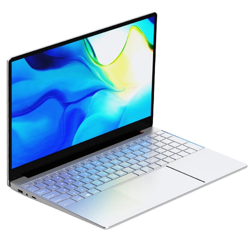 15,6-дюймовый ноутбук 8 ГБ ОЗУ 15,6 ГБ 128 ГБ 512 ГБ 1 ТБ 2 ТБ SSD Intel Celeron J4125 Windows 10 pro компьютер с камерой Bluetooth 256 МП