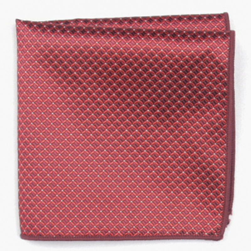 Red Subtle  Fashion Patterned Pocket Square With Patterns Handkerchief