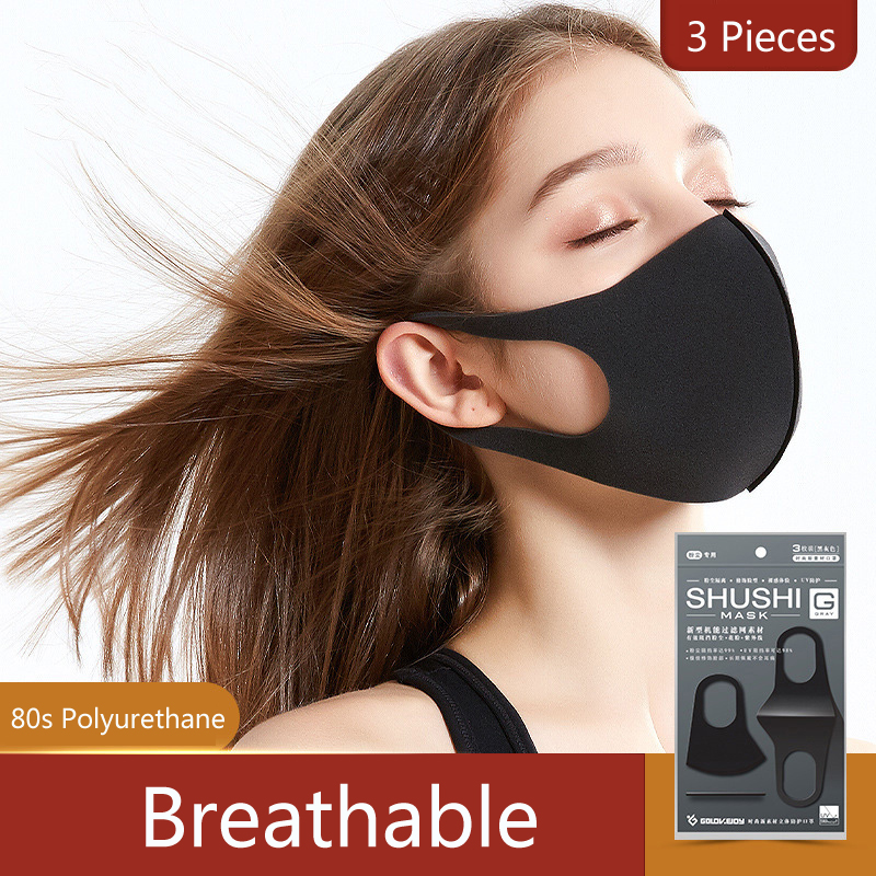 BISON DENIM Polyurethane Mouth Mask Anti Dust Mask Windproof Reusable Respirator Mouth Muffle Polyurethane Mask For Allergy