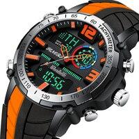 2020 nuevo reloj para hombre, reloj de pulsera de doble pantalla de moda de lujo de marca superior, reloj analógico digital deportivo impermeable, reloj masculino