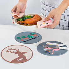 5PCs Nordic Silicone Dish Mat Heat Resistance Mats for Dining Tea Coasters Table Bowl Pot Plate Anti-scalding Tableware Pads цена