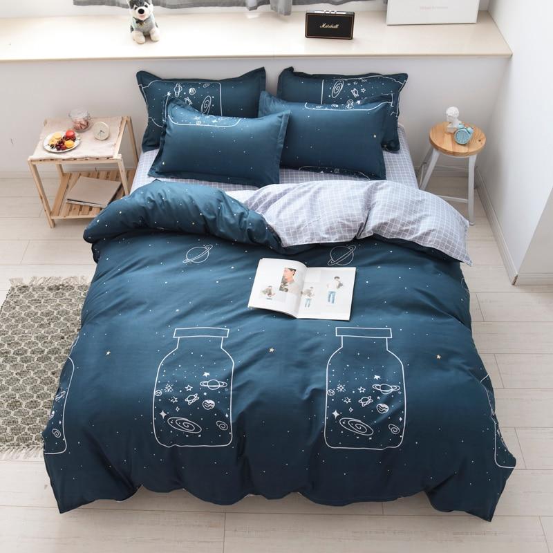 Pillowcase Bedding-Set Bed-Sheet Duvet-Cover No-Quilt Wishing-Bottle