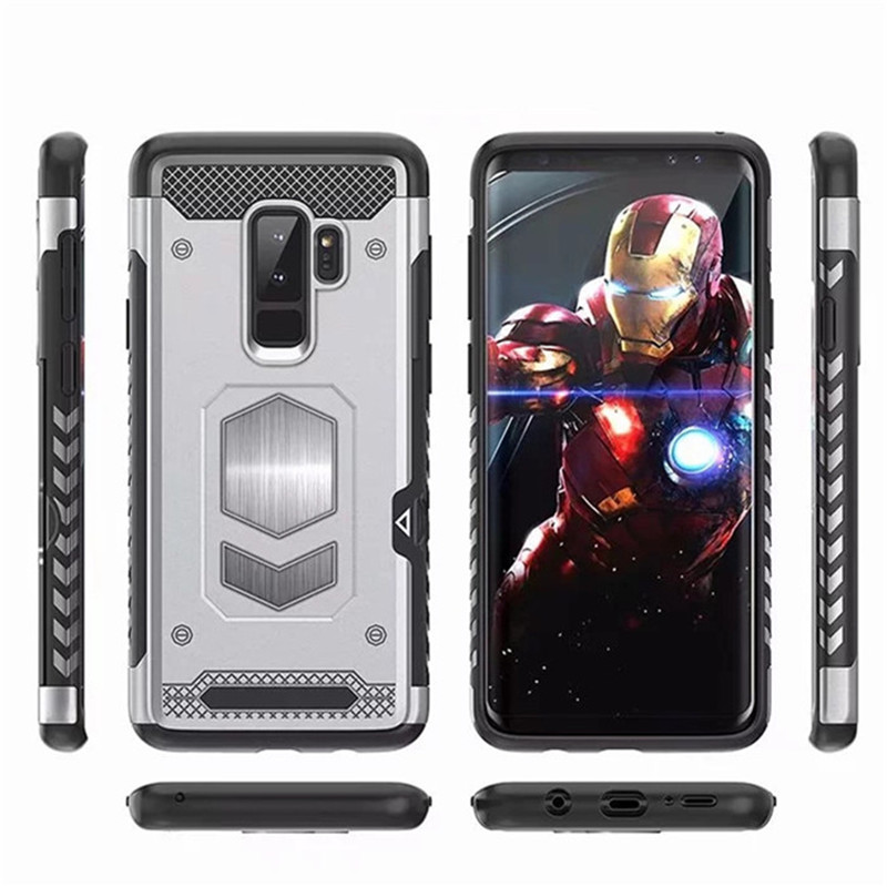 For Samsung Galaxy S9 8 Plus S7 Edge S8 NOTE 9 8 5 Magnetic Car Armor Case for A7 A9 A6 A8 Plus J4 J6 J8 2018 A5 J3 J5 J7 2017