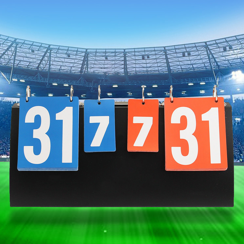 4 Digit Scoreboard Sports Referee Soccer   Board For Basketball Football Badminton Volleyball Table Tennis Equipment