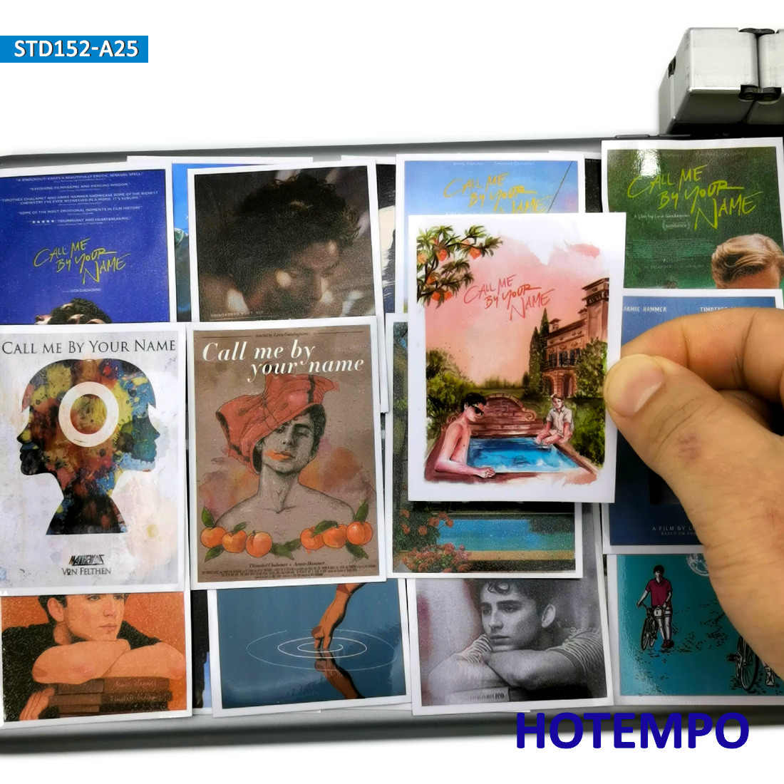 25 PCS ภาพยนตร์ Call Me โดยของคุณชื่อ Art โปสเตอร์สไตล์สติกเกอร์สำหรับโทรศัพท์มือถือแล็ปท็อปกระเป๋าเดินทางสมุดภาพแฟชั่นสติกเกอร์รูปลอก