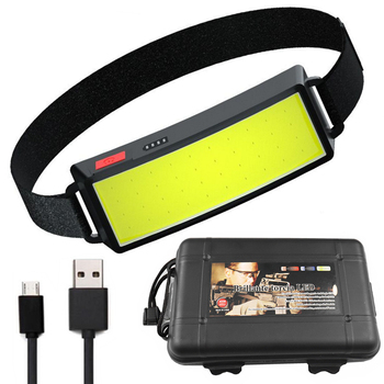 2021 Year New Style Headlamp Portable Mini COB LED Headlight With Built-in Battery Flashlight USB Rechargeable Head lamp torch 1