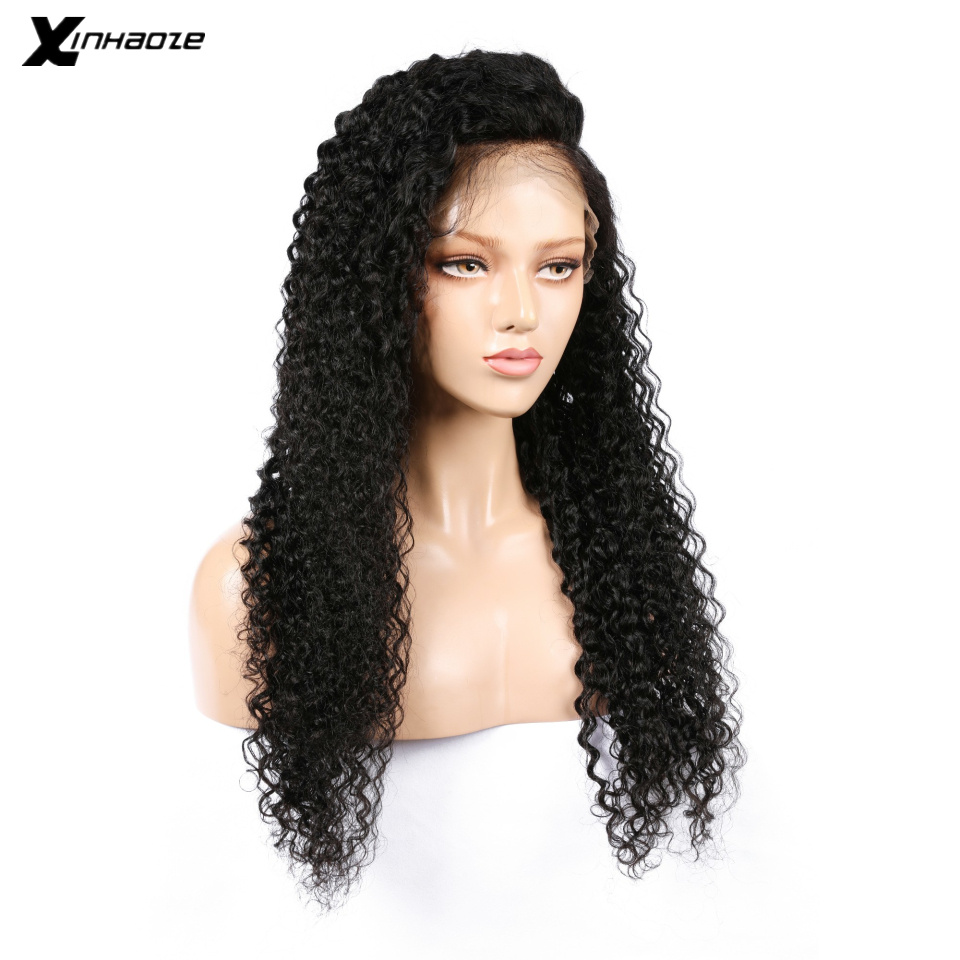 Lace Front Human Hair Wigs For Black Women Pre Plucked Curly Wigs Brazilian Remy Lace Wigs Bleached Knots 130% Density