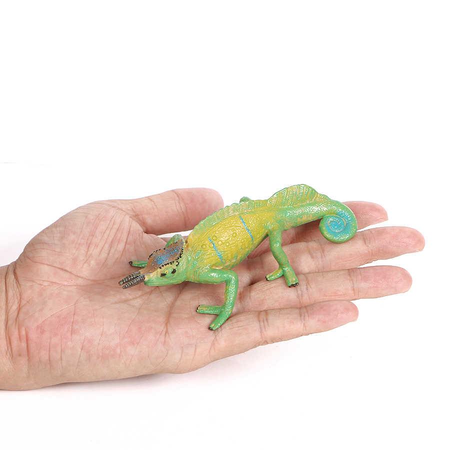 Simulação Chameleon, Escorpião, frilled lagarto, dragão de komodo, centopéia animais modelo figura de ação Realista Jogar brinquedos de decoração para casa