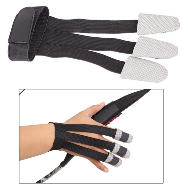 3-finger Bow Arrow Archery Protective Glove Sports Safety Hunting Gloves durable Elastic Finger Mittens Support Protector