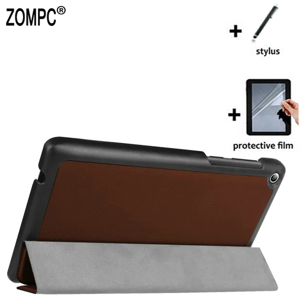 3in1 Ultra Slim Luxury Folio Stand Leather Case Lightweight Cover + Film + Stylus for <font><b>Lenovo</b></font> Tab 2 7.0 <font><b>A7</b></font>-20F <font><b>Tab2</b></font> <font><b>A7</b></font>-<font><b>10F</b></font> 7 inch image