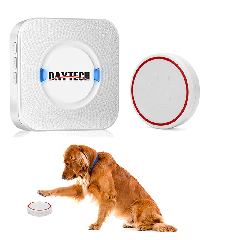 DAYTECH Wireless Doorbell Touch Call Button Ring Door Bell Chime LED Indicator Cordless   Doorbell