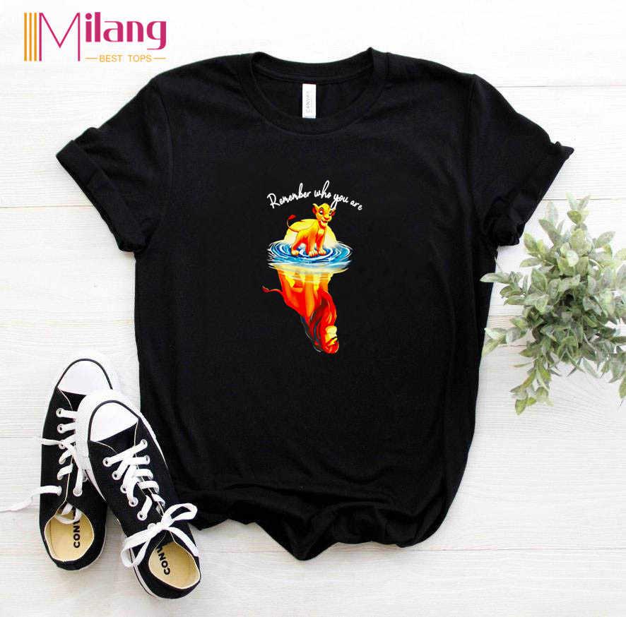 Frauen Erinnern, Die Sie Sind schwarz t-shirts Mädchen kurzarm T-stücke Weibliche 2020 Sommer Der König Der Löwen Kleidung Mädchen Tops