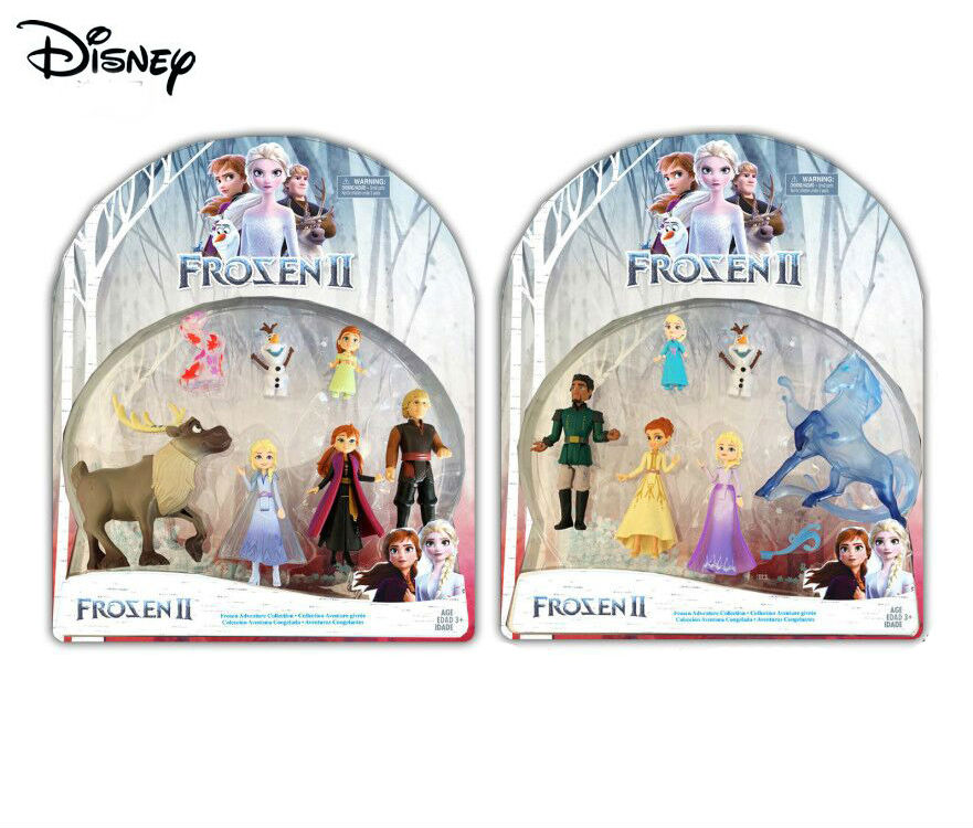 2020 NEW 5pcs Disney Frozen 2 Adventure Collection Dolls  Anna, Elsa, Kristoff, Sven, Olaf, & Gale Accessory Children Toy-No Box